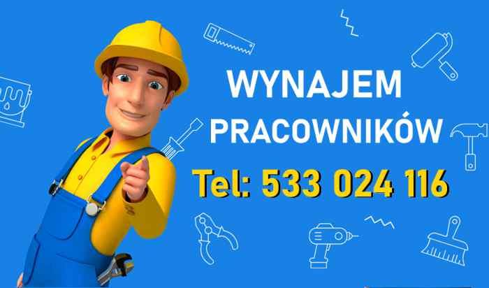 Wynajem Pracowników Rymań  Zadzwoń  533 024 116